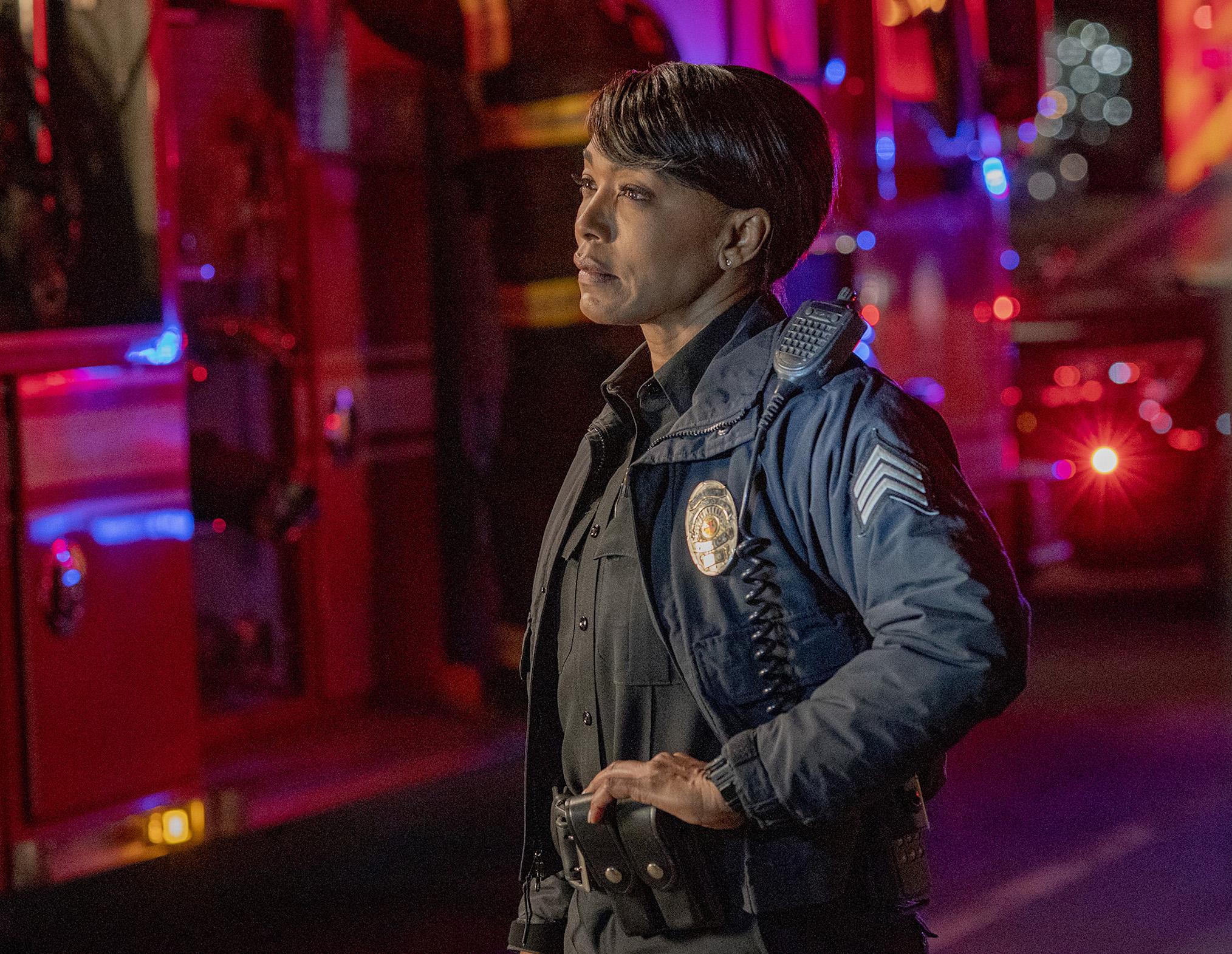 Angela Bassett as Athena in 9-1-1