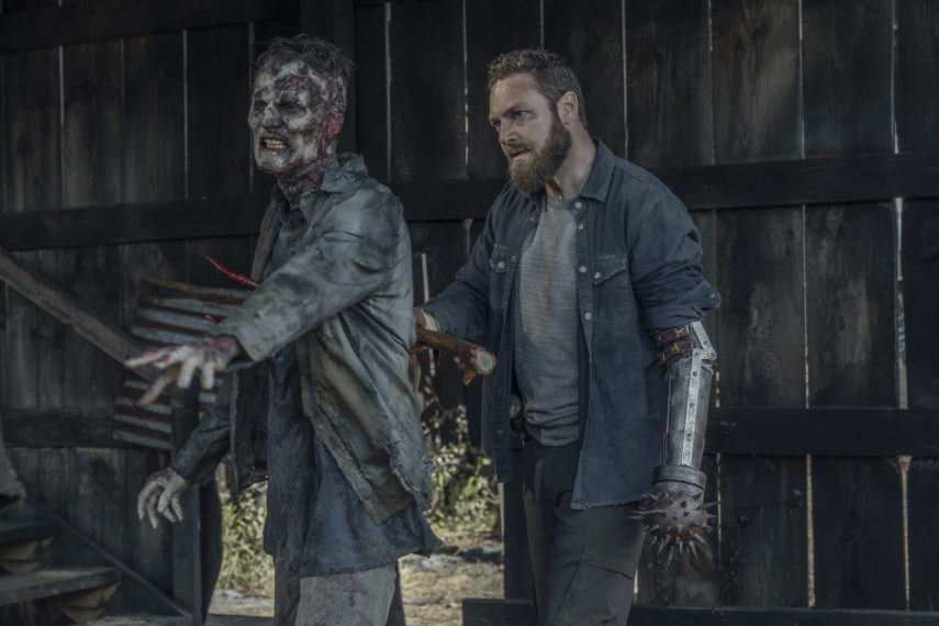 the walking dead season 11 episode 5, ross marquand as aaron